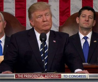 Donald Trump's first Congressional Address was filled with emotional propaganda