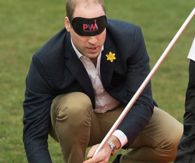 Prince William pitches a tent... Blind