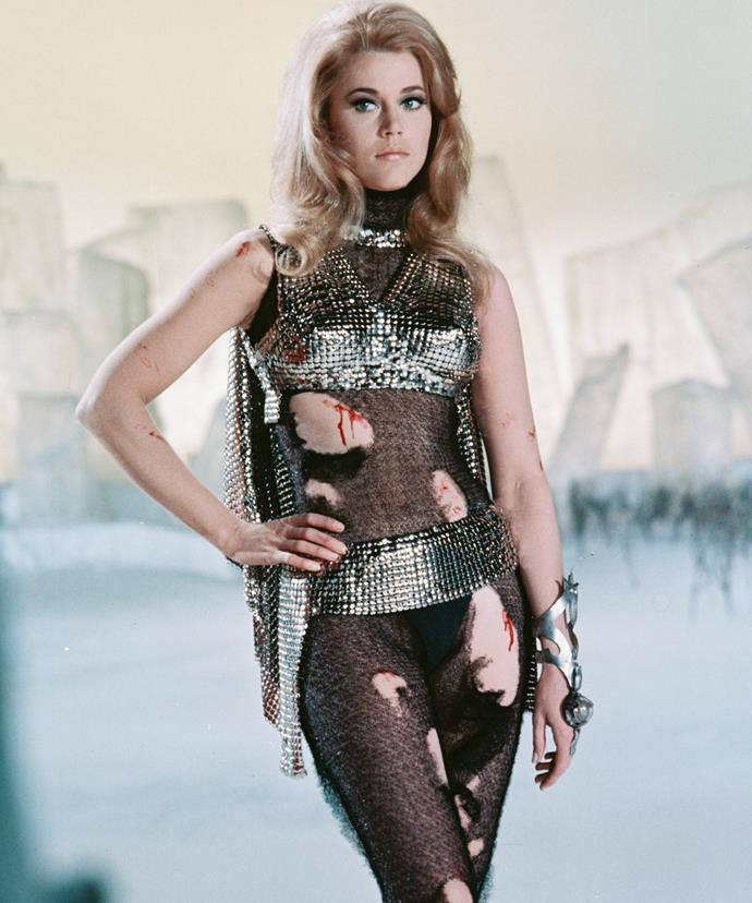 Jane became a global sex symbol after landing the role of the futuristic siren Barbarella in the 1968 cult classic.