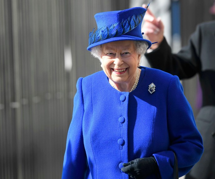 The 90-year-old monarch looked as sprightly as ever at the important event.