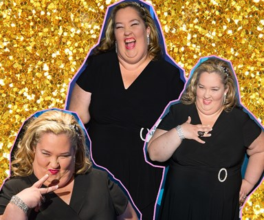 Mama June celebrates dramatic weightloss by rocking a wedding dress because... why the heck not?