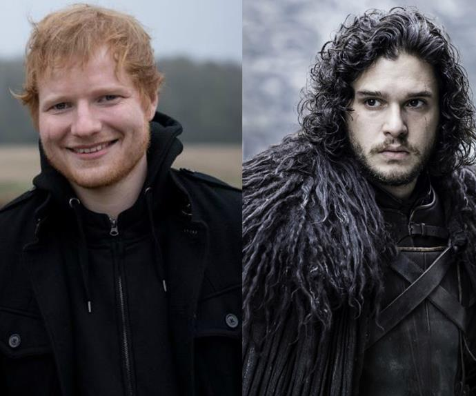 Ed Sheeran, Jon Snow, Game of Thrones