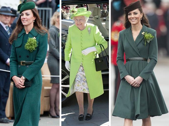 Queen Elizabeth II and Duchess Catherine