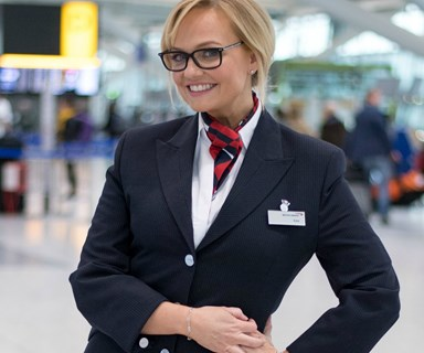 Emma Bunton - a.k.a 'Baby Spice' - pranks airport travellers