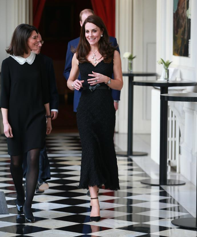 Kate will rub shoulders with French actress Audrey Tatou and Dame Kristin Scott Thomas at tonight's celebration.