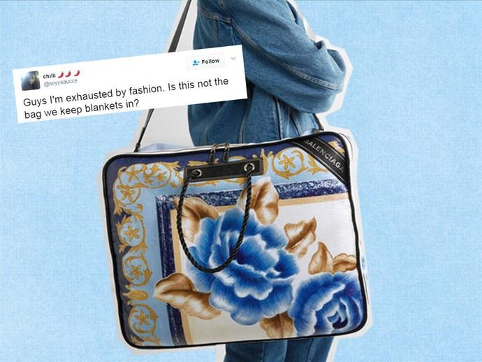 Balenciaga blanket bag