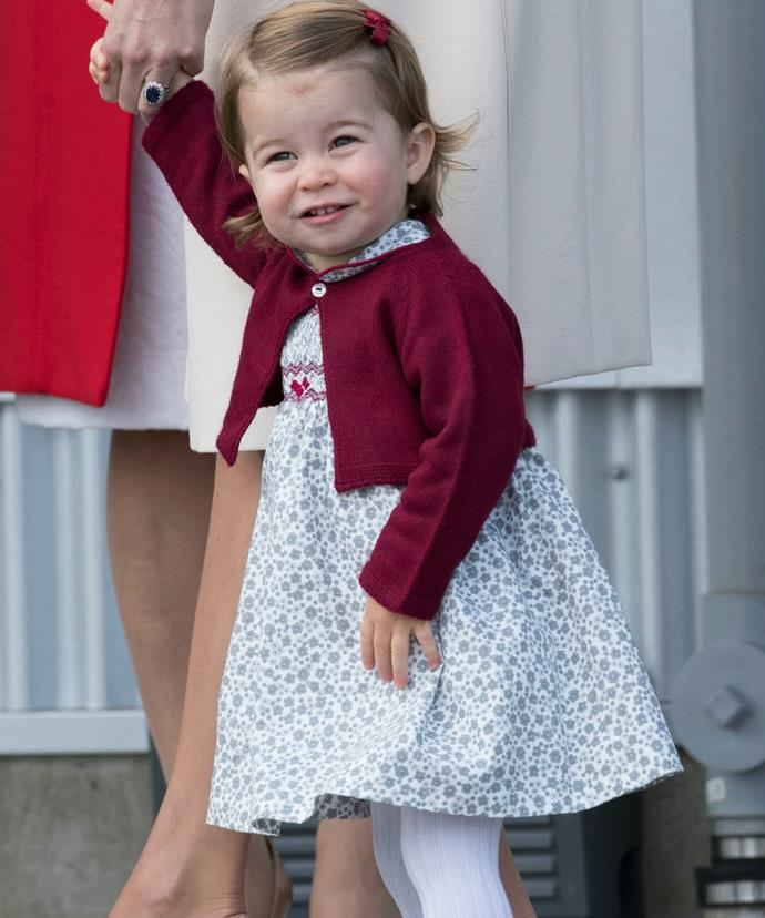 Charlotte may also be a regular at the school gates!
