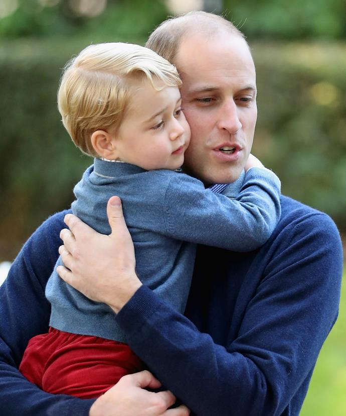 We just adore this picture of Prince George and his doting dad!