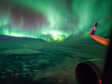 Watch this video of the Southern Lights filmed from Air New Zealand flight