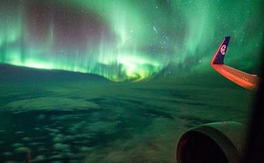 Watch this video of the Southern Lights filmed from a plane and be mesmerised forever