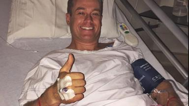 """""""We're both pretty lucky!"""" Grant Denyer breaks his silence following his car crash"""