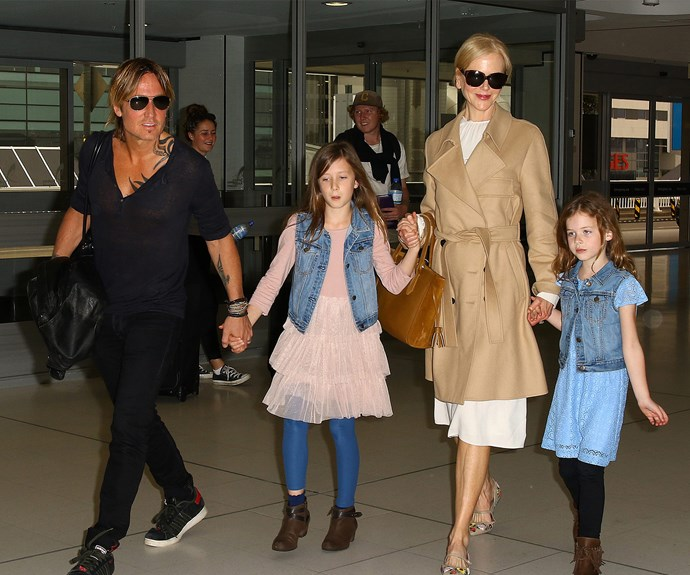 Nicole Kidman, Keith Urban, Faith Margaret Kidman Urban, Sunday Rose Kidman Urban