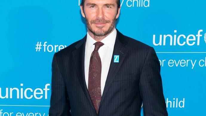 David Beckham unrecognisable in King Arthur head shot