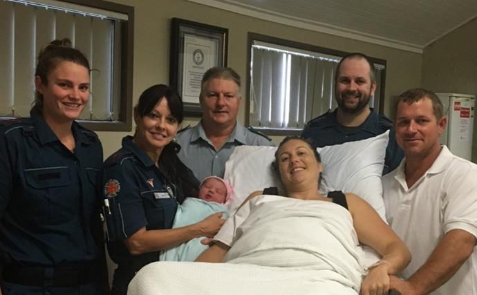 """Cyclone Debbie: Baby girl delivered """"safe and dry"""" amid storm"""