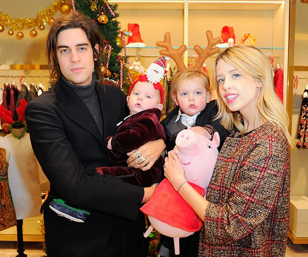 Thomas Cohen and Peaches Geldof with their two children.