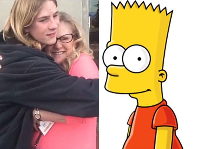Nancy Cartwright blows teenager's mind as Bart Simpson