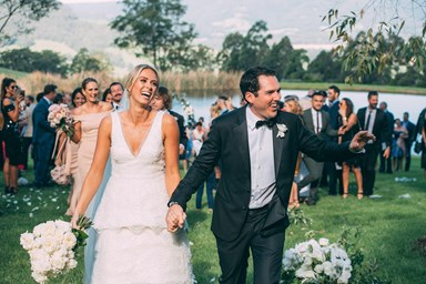 Here's your first look of Sylvia Jeffreys and Peter Stefanovic's wedding