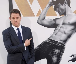 Channing Tatum at Magic Mike XXL premiere.
