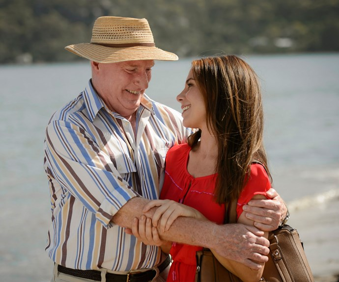 Alf Stewart and Sally Fletcher on Home And Away