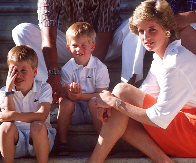 Prince William, Prince Harry, Princess Diana