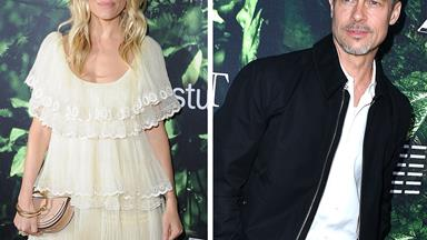 Cosy co-stars: Did Brad Pitt just flirt with Sienna Miller?