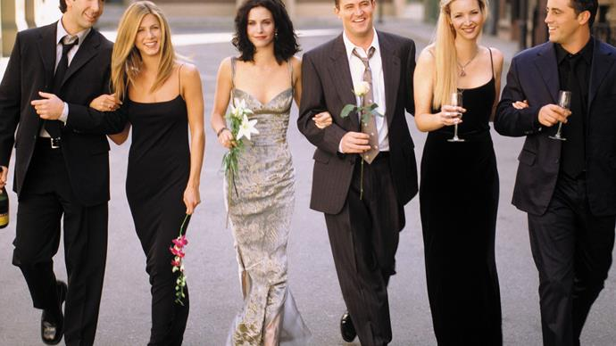 Jennifer Aniston, Courteney Cox, Lisa Kudrow, Matt LeBlanc, Matthew Perry, David Schwimmer in Friends
