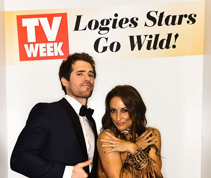 Kyle Pryor and Georgie Parker at the TV WEEK Logie Awards