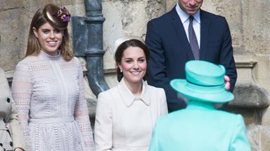 It's a very royal Easter as Duchess Catherine curtsies to The Queen