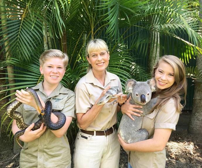 Bob, Terri and Bindi Irwin