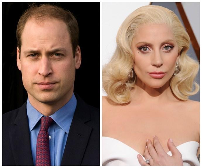 Prince William, Lady Gaga