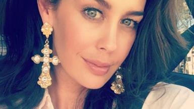 Megan Gale just shared the adorable first picture of her growing baby bump