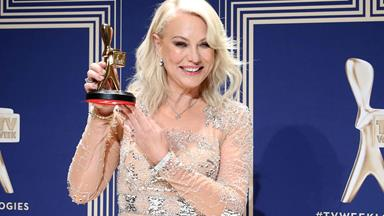 Kerri-Anne Kennerley brings down the house with her Hall of Fame speech