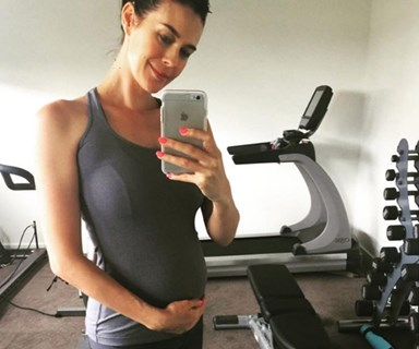 What prompted Megan Gale to fear for her unborn baby