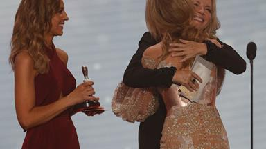 Jessica Marais on what it meant to accept her Silver Logie from Rebecca Gibney