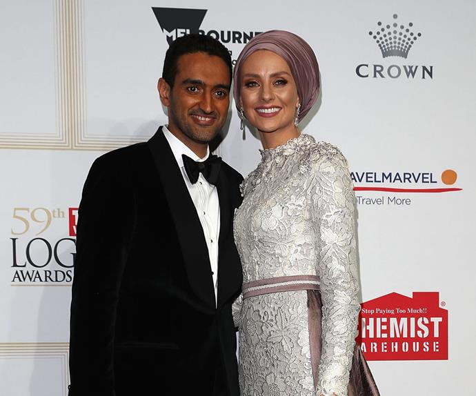 Waleed Aly and Susan Carland at the 2017 TV WEEK Logie Awards