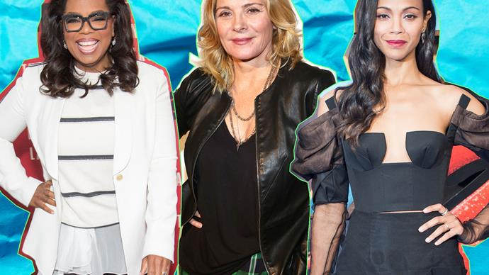Oprah Winfrey, Kim Cattrall and Zoe Saldana