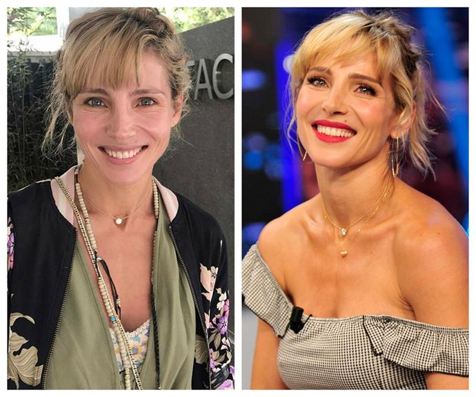 Elsa Pataky, 40, has taken to Instagram to show her unedited and unfiltered self in a stunning new makeup-free photo. The new selfie (L) proves the actress, who's married to Chris Hemsworth, is a true beauty with or without makeup!