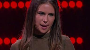 No high notes over here: Dan Ewing's girlfriend Kat Risteska misses the beat on The Voice