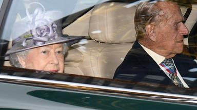 Prince Philip makes first appearance with the Queen after announcing retirement