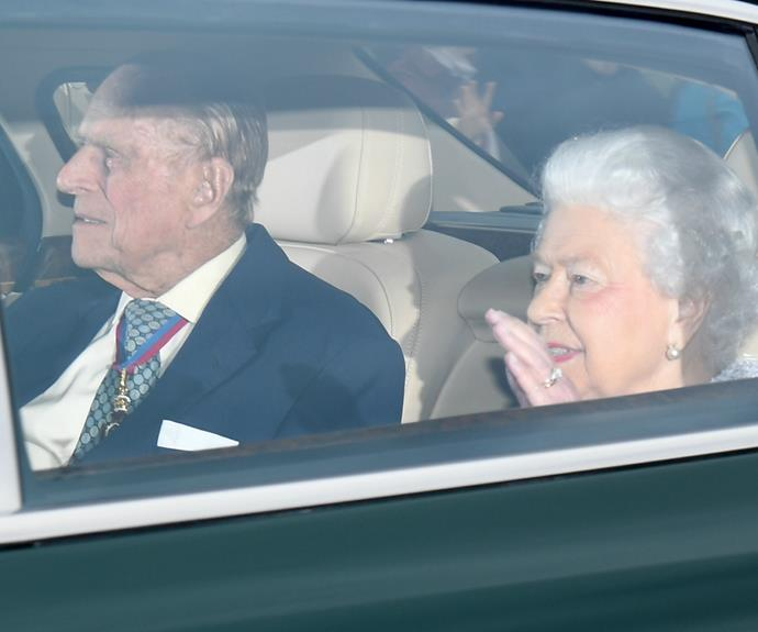 The pair were pictured as they made their way from Buckingham Palace to St James's Palace.