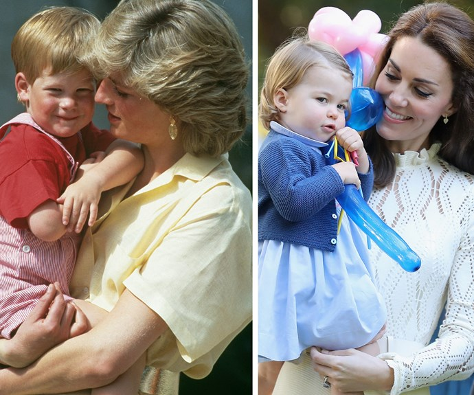 Princess Diana and Duchess Kate