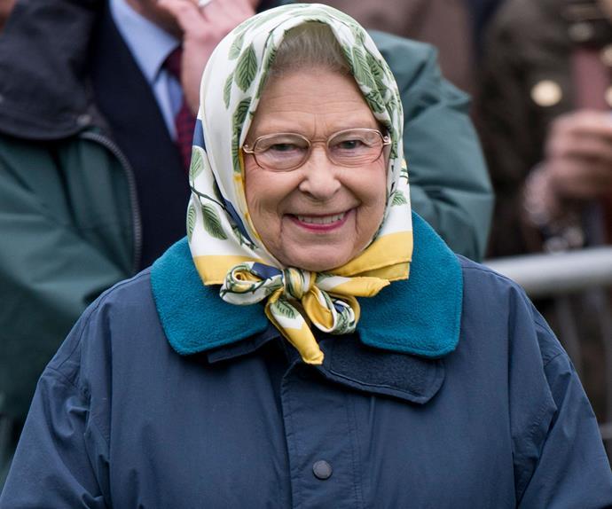 Queen Elizabeth II wearing glasses