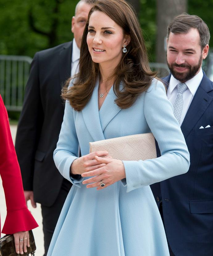 The horror! A tucked clutch is reportedly against royal etiquette.