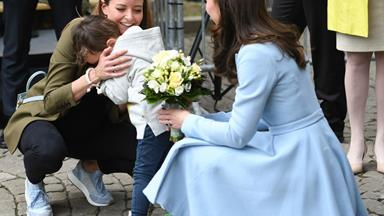 Duchess Kate's adorable moment with young fan in Luxembourg