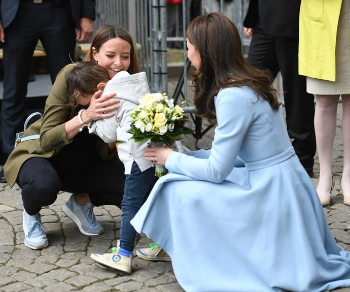 The young boy, the son of Tour de France-winning Andy Schleck, was overcome upon meeting the royal.