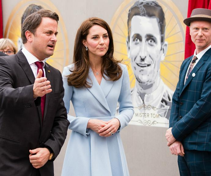She was also on sight to unveil a series of Luxembourgish and British works of urban art, located at the Place Clairefontaine.