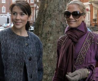 Princess Mary and Caroline Fleming