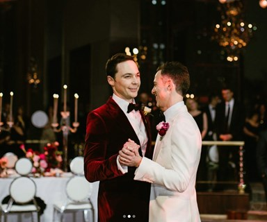 See the stunning first snaps from Jim Parsons and Todd Spiewak's wedding