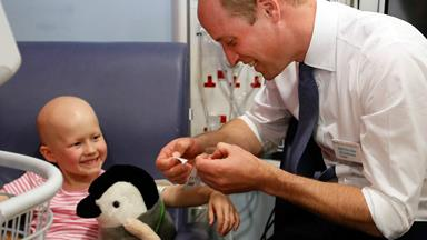 Prince William shares a special moment with a six-year-old cancer patient