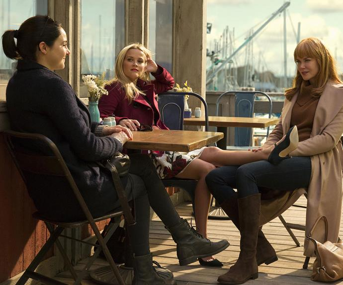 Shailene Woodley, Reese Witherspoon and Nicole Kidman in Big Little Lies